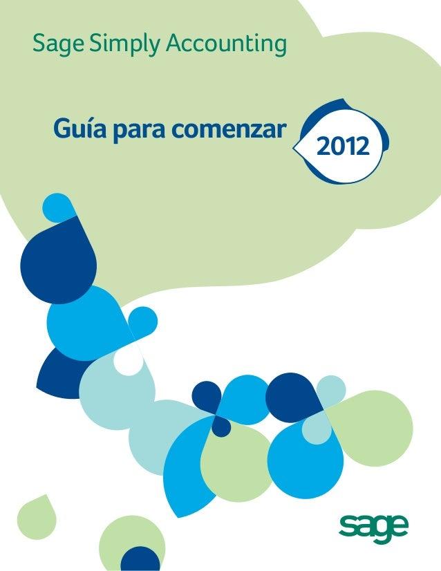 Sage Simply Accounting Guía para comenzar 2012