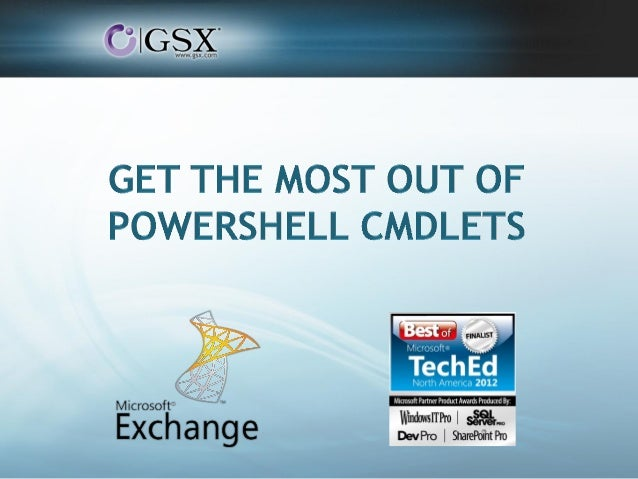 GSX Webinar PowerShell Cmdlets Automation