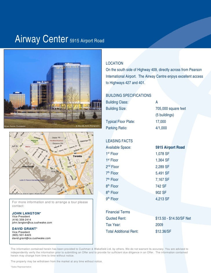 Airway Center 5915 Airport Road                                                                                 LOCATION  ...