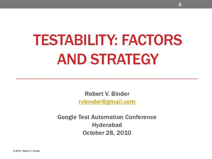 Testability: Factors and Strategy