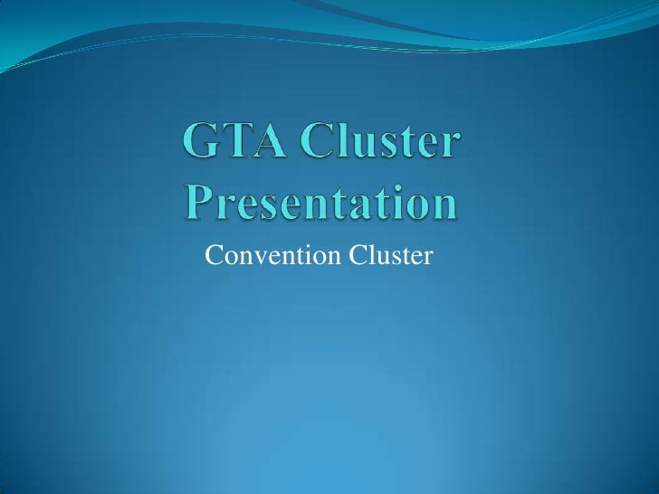 Gta Meetings Cluster Presentation