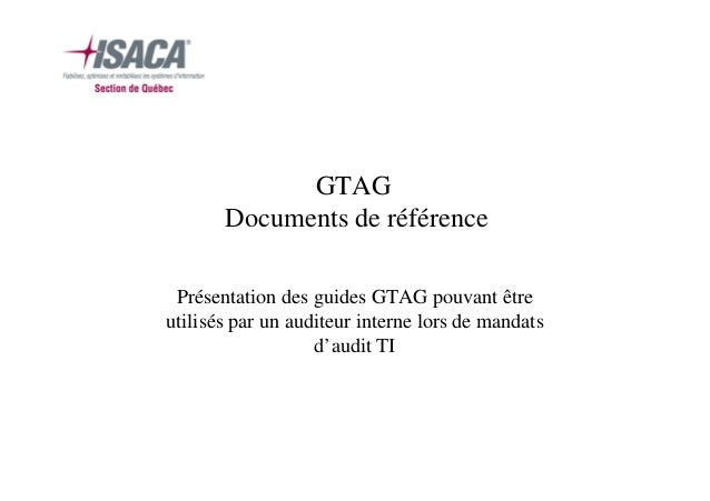 GTAG Documents de référence