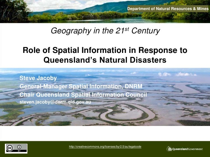 Role of Spatial Information in Response to Queensland's Natural Disasters