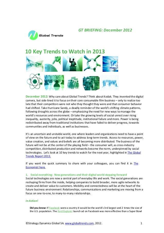 GT Briefing December 2012 10 key trends to watch in 2013