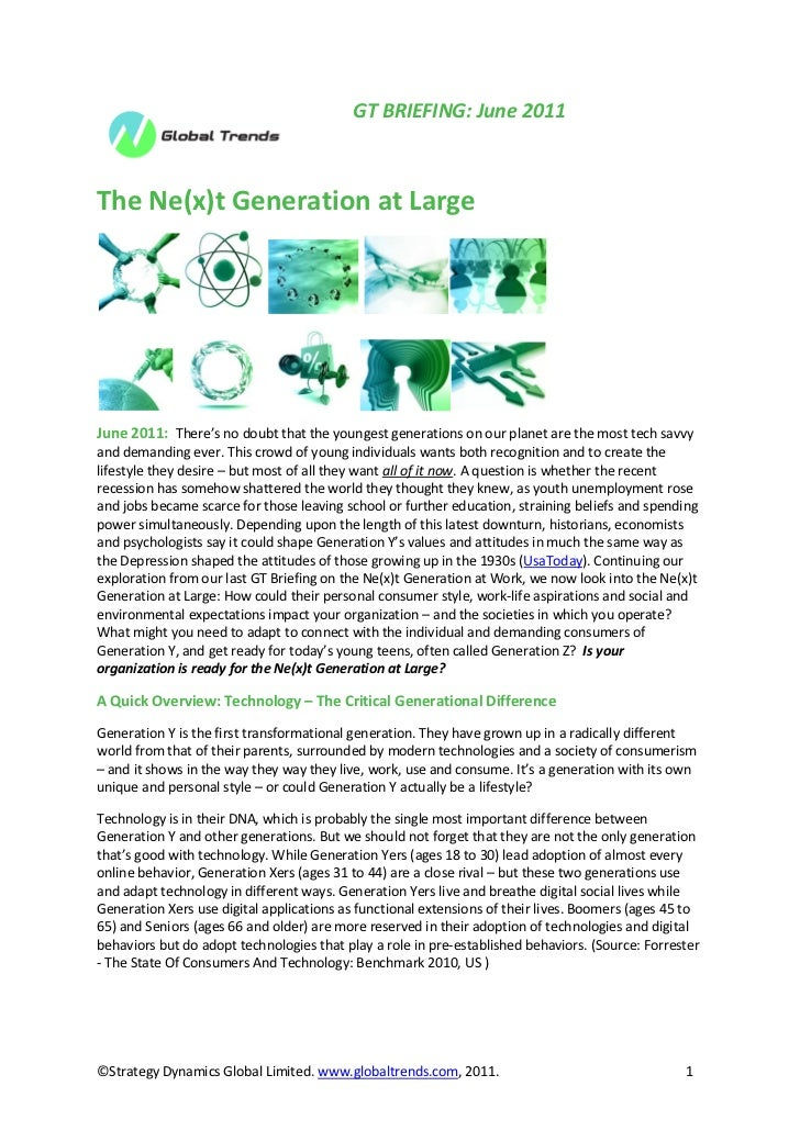 Global Trends Briefing June 2011: The Ne(x)t Generation at Large
