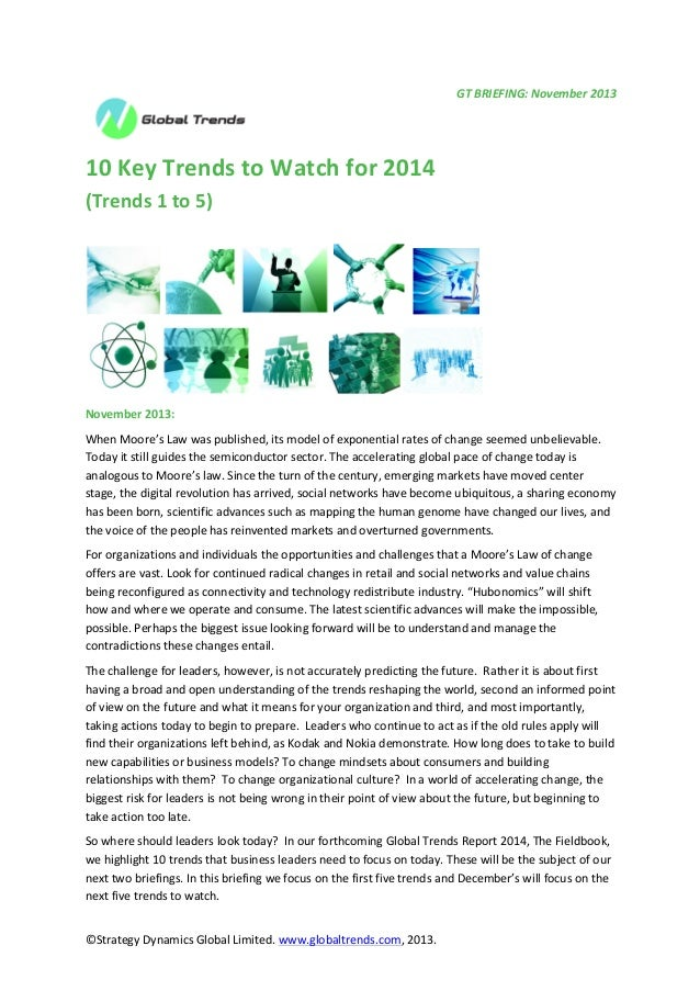 10 trends to watch for 2014: Trends 1 to 5