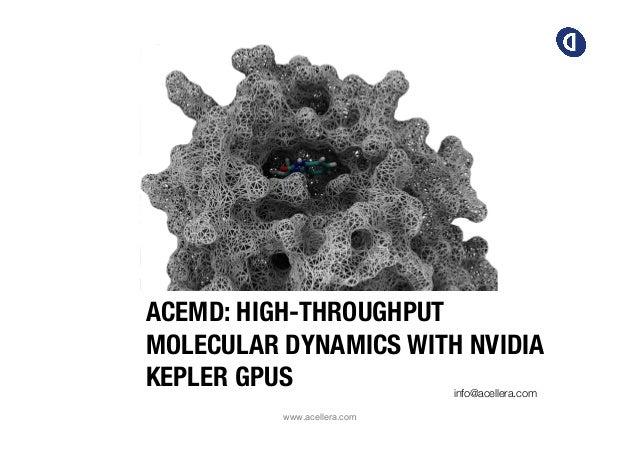 ACEMD: HIGH-THROUGHPUT MOLECULAR DYNAMICS WITH NVIDIA KEPLER GPUS info@acellera.com   www.acellera.com