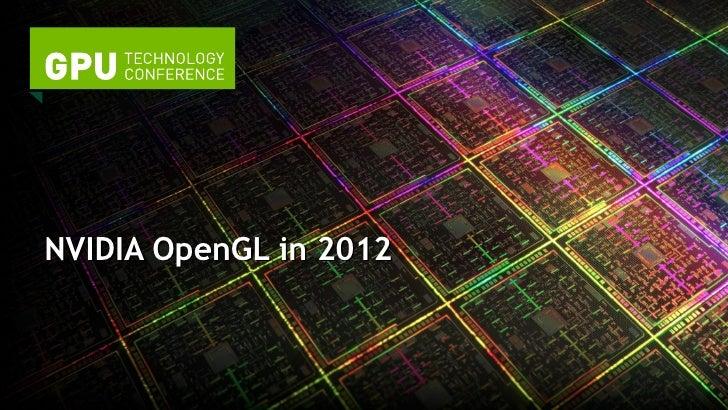 NVIDIA OpenGL in 2012