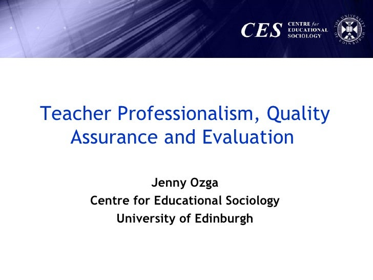 'Teacher Professionalism Quality Assurance and Evaluation.' (National Education Conference, 28 May 2009)
