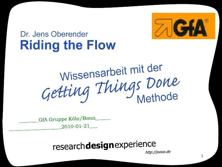 Getting Things Done (GfA Präsentation)