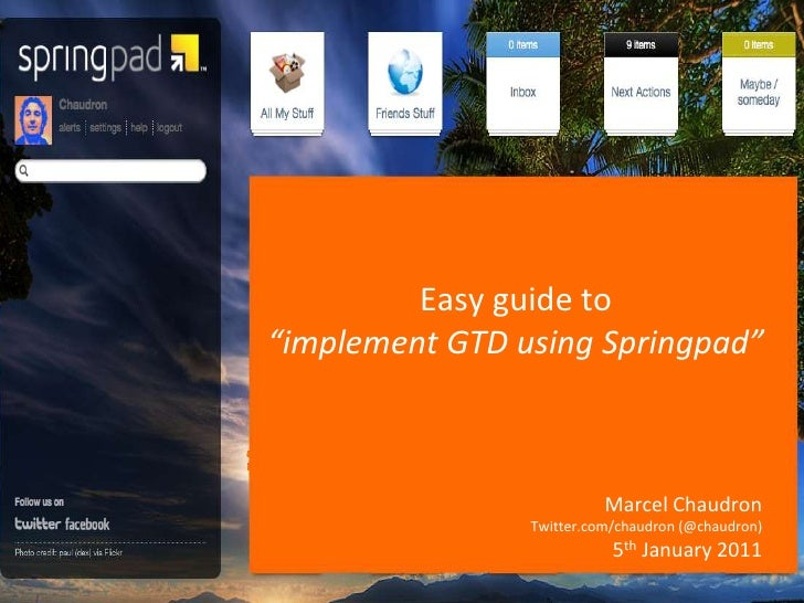 Easy guide to implement GTD using Springpad