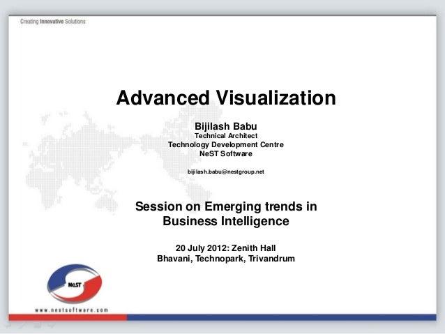 Advanced Visualizations, Bijilash Babu