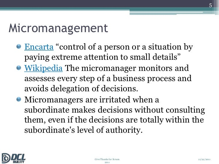 the micromanager essay