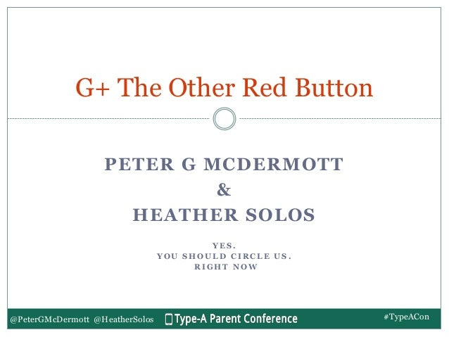 G+ The Other Red Button