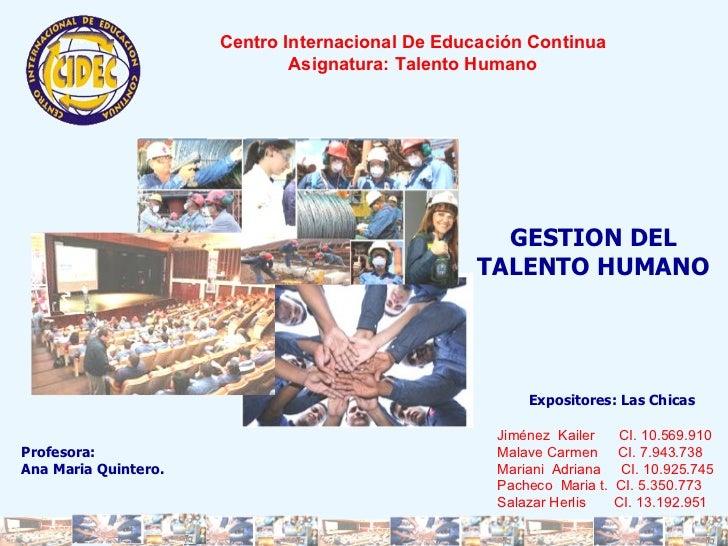 Talento Humano (Gestion del Conocimiento)