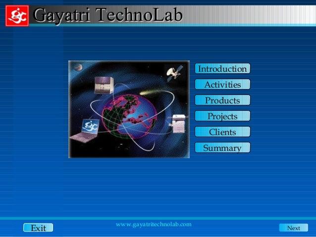 Gayatri TechnoLab                                    Introduction                                     Activities          ...
