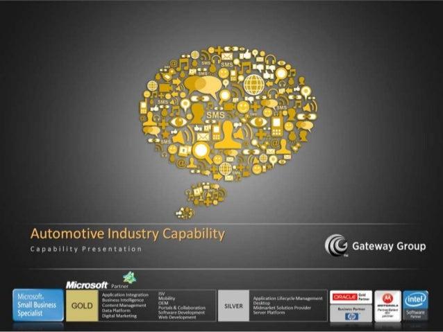 Gateway - Automobile Capability