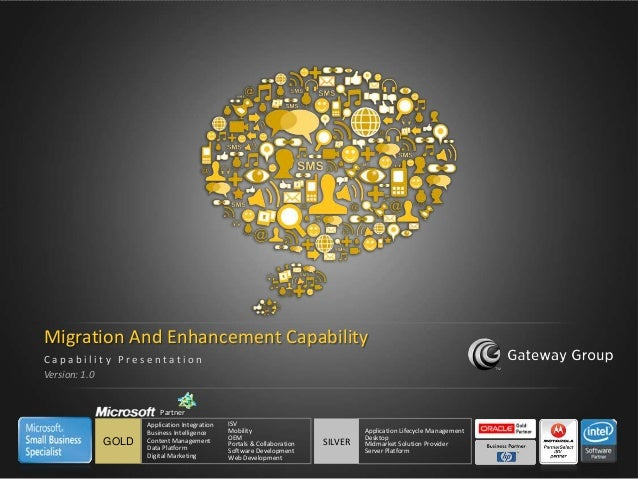 Migration And Enhancement Capability    Capability Presentation    Version: 1.0                       Partner             ...