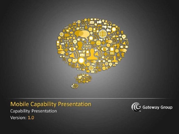 Mobile Application Development Capability