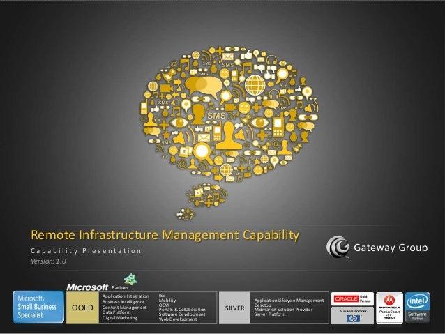 Remote Infrastructure Management Capability    Capability Presentation    Version: 1.0                       Partner      ...