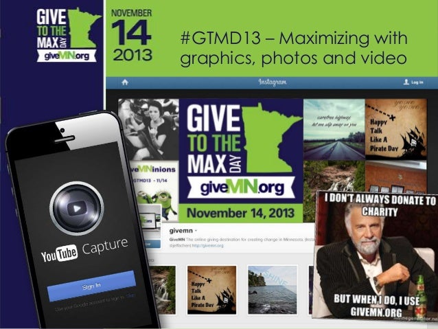 #GTMD13 – Maximizing with graphics, photos and video