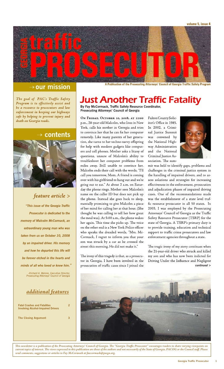 PAC of Ga. Traffic Safety Newsletter