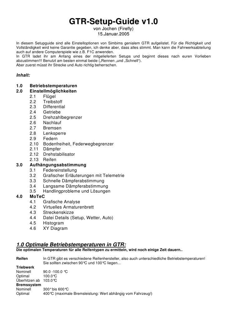 GTR-Setup-Guide v1.0                                              von Jochen (Firefly)                                    ...
