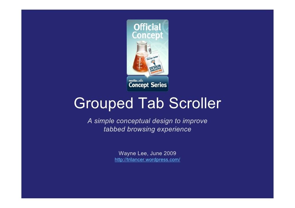 GTS - Grouped Tab Scroller