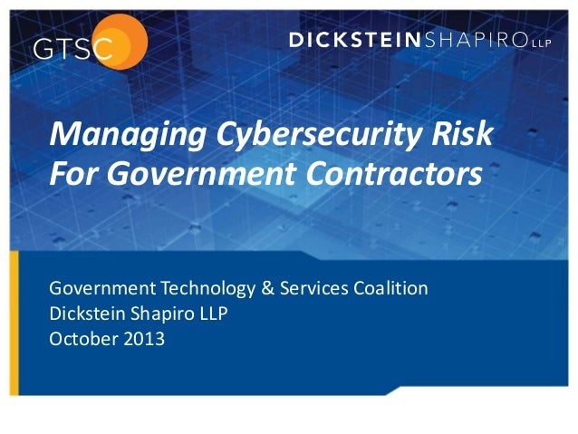 Key Cyber Security Issues for Government Contractors