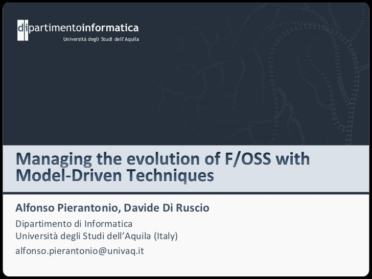 Managing the evolution of F/OSS with Model Driven Techniques