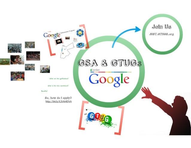 GTUGs (now GDGs) GSAs Talk at Google Day in Jordan