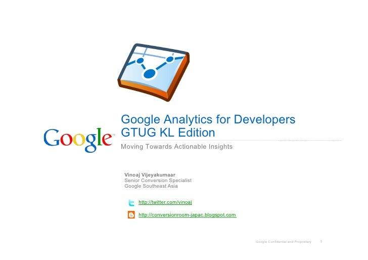 Google Analytics for Developers: GTUG KL Edition