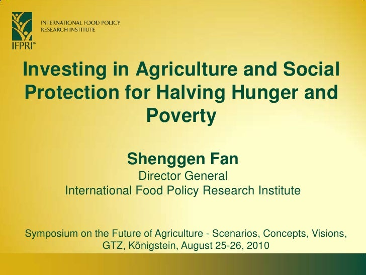 Investing in Agriculture and Social Protection for Halving Hunger and Poverty<br />Shenggen FanDirector General<br />Inter...
