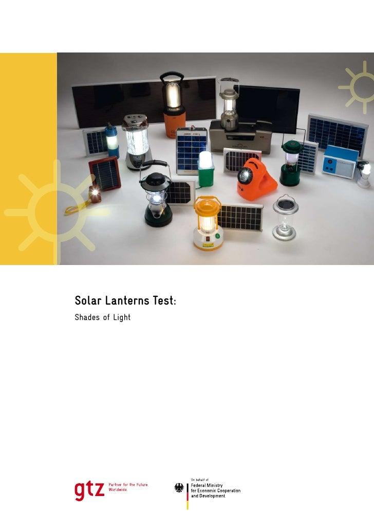 Gtz Solar Lanterns Test