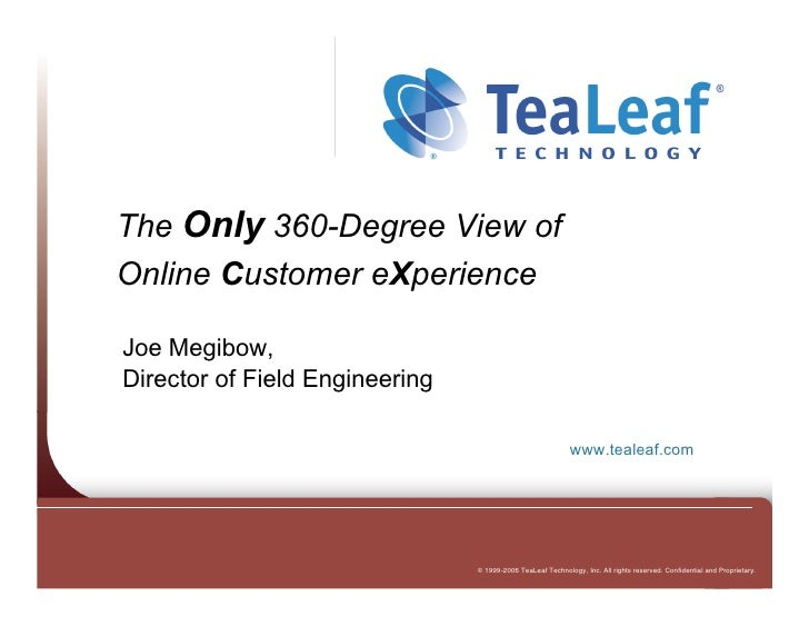 Gigamon U - Reading Tea Leaf, 360-Degree View of Online Customer eXperience