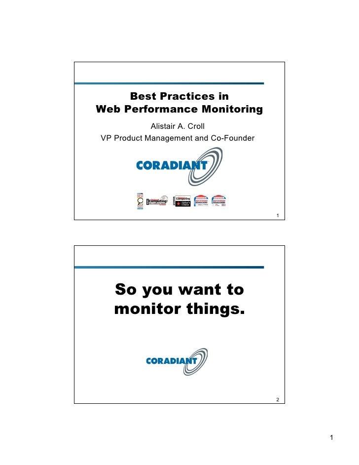 Gigamon U - Web Performance Monitoring