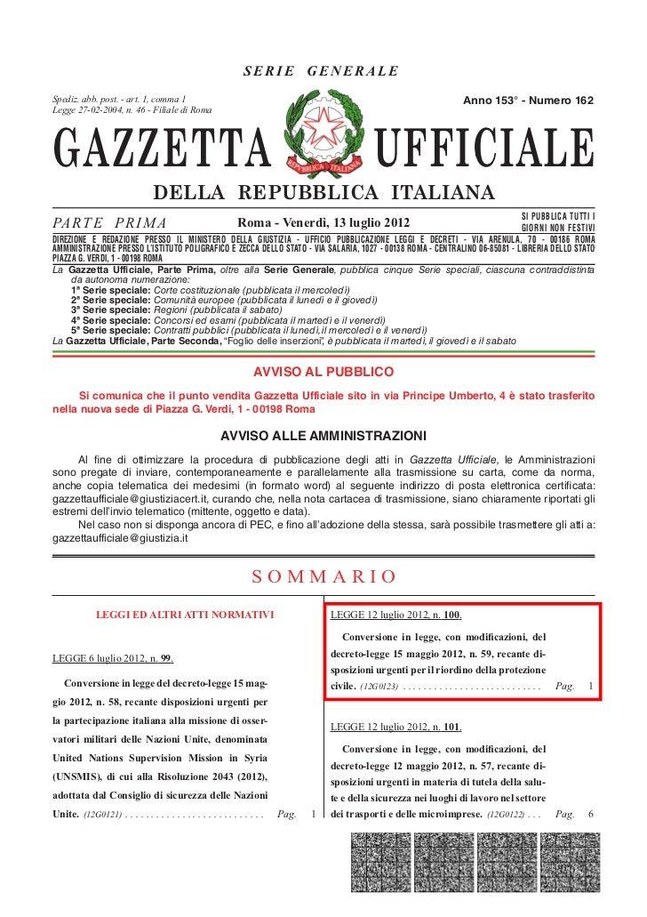 La riforma della protezione civile (testo integrale)
