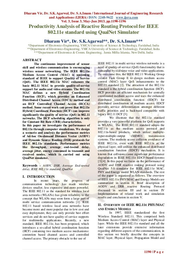 Dharam Vir, Dr. S.K.Agarwal, Dr. S.A.Imam / International Journal of Engineering Researchand Applications (IJERA) ISSN: 22...