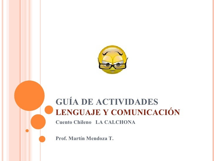 GuíA De Actividades Lenguaje Y ComunicacióN1