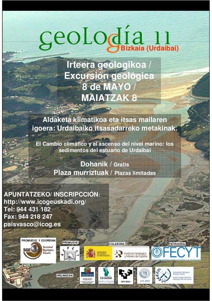 Bizkaia (Urdaibai)                              Irteera geologikoa /                              Excursión geológica     ...