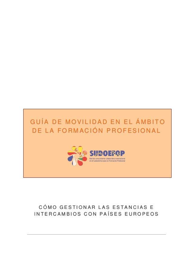 Guía de movilidad en el ámbito de la Formación Profesional.