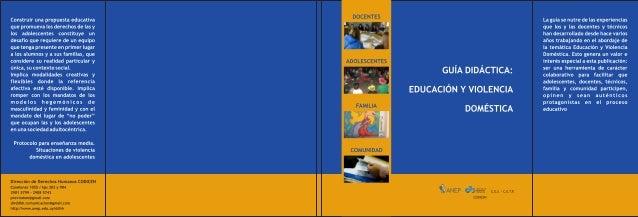 """Guía didáctica """"Educación y violencia"""""""