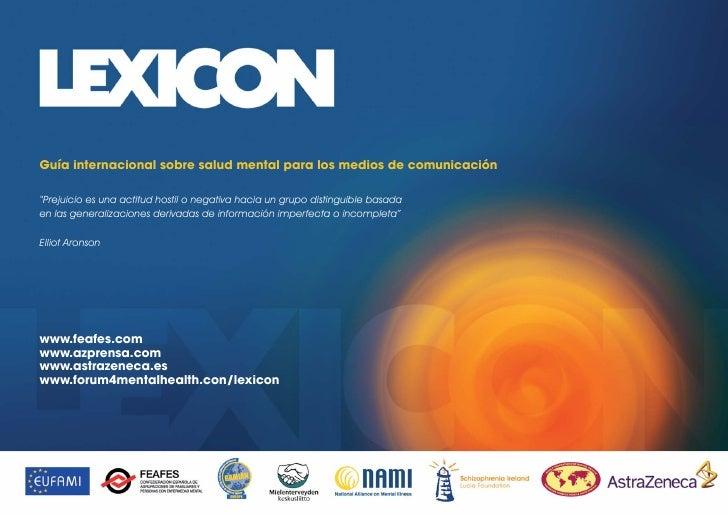 Guia Internacional Sobre Salud Mental Para Los Medios De ComunicacióN