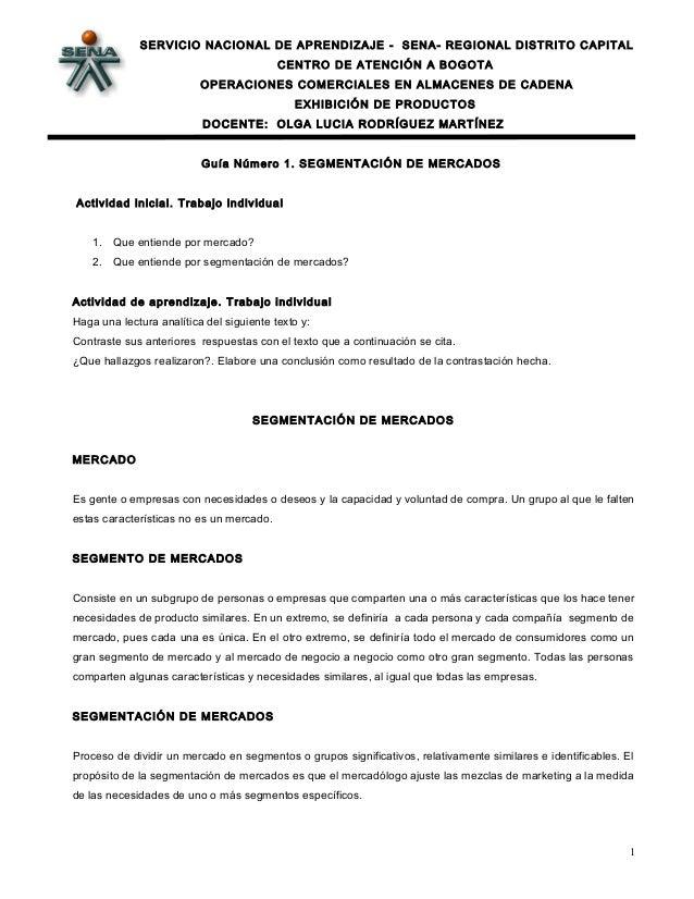 SERVICIO NACIONAL DE APRENDIZAJE - SENA- REGIONAL DISTRITO CAPITAL CENTRO DE ATENCIÓN A BOGOTA OPERACIONES COMERCIALES EN ...