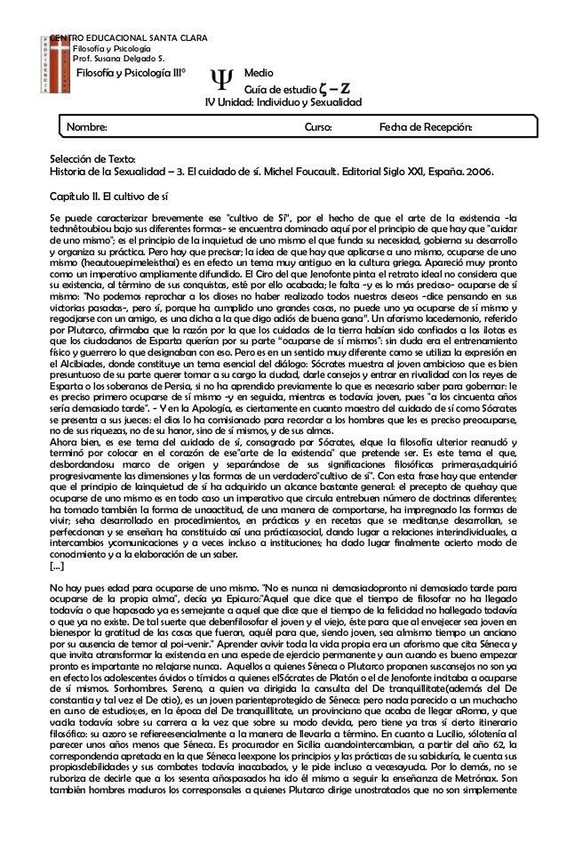 CENTRO EDUCACIONAL SANTA CLARA Filosofía y Psicología Prof. Susana Delgado S.  Filosofía y Psicología III°  Nombre:  Medio...
