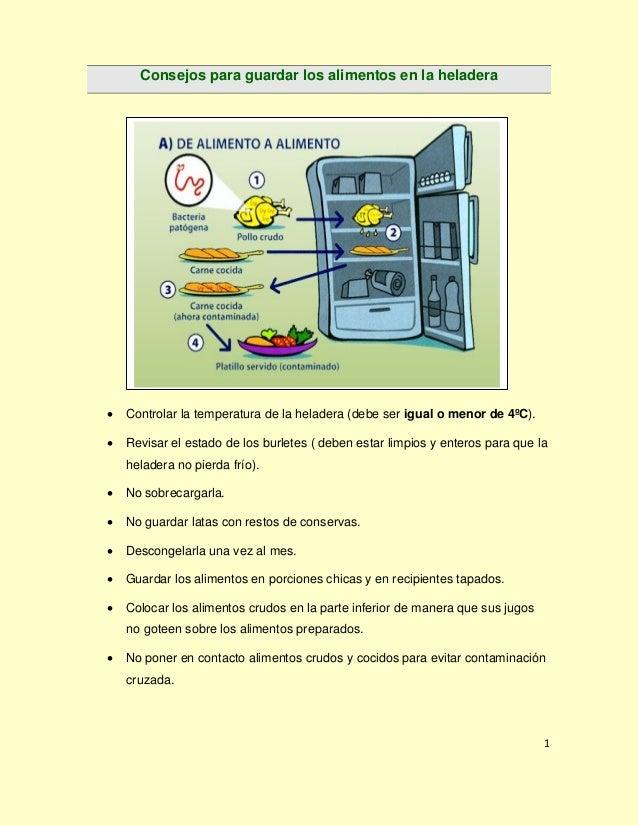 Gu a buenas pr cticas de manufactura para la preparaci n for Donde poner la heladera en la cocina