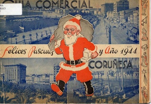 Guía comercial coruñesa: Felices Pascuas y año 1944