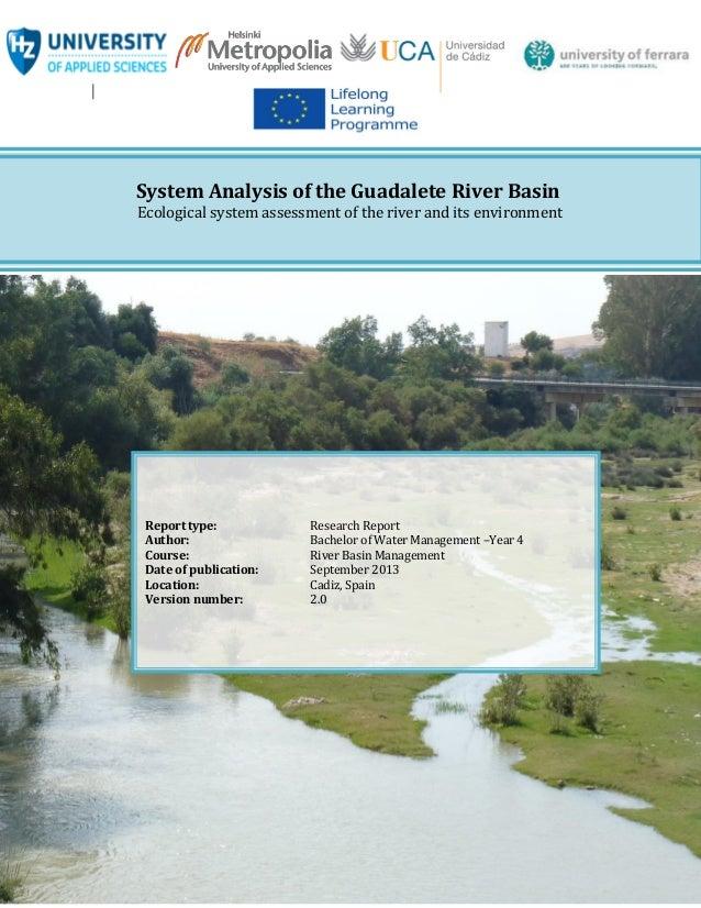 Guadalete river 2013 final report week 1