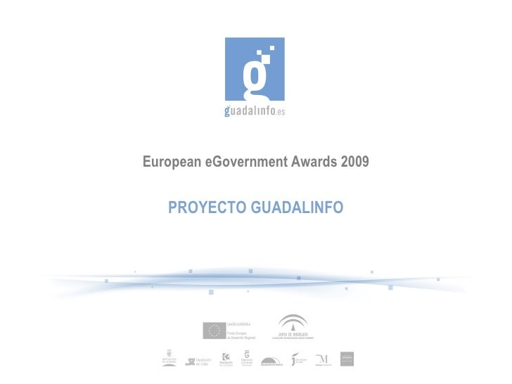 European eGovernment Awards 2009     PROYECTO GUADALINFO