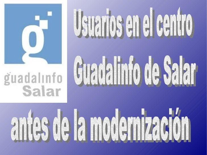 Centro GUADALINFO de SALAR antes de la modernización